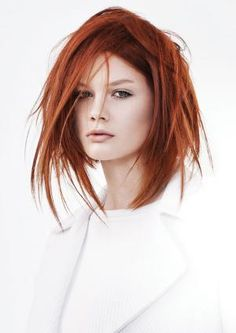 Vidal Sassoon Professional Beauty Education Scholarship Program Accepting Applications for Spring 2016 Messy Hairstyles, Pretty Hairstyles, Hair Styles 2016, Short Hair Styles, Vidal Sassoon Hair Color, Red Hair Woman, Foto Fashion, Hair Reference, Pinterest Hair