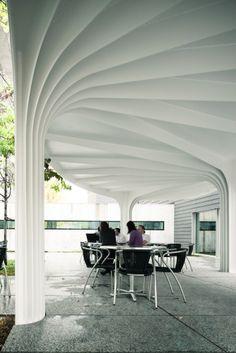 Leaf-Structured Canopy / SAM Architekten und Partner Courtesy of SAM Architekten und Partner