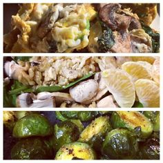 @shortstack410 - Day 2 - organic eggs with mushrooms and spinach / spinach salad with walnuts&tangerine / roasted Brussels sprouts #veggies #foodporn #worldlifechallenge #nutrition #grub #motivated #paleo #eatclean #healthylifetsyle #changes #noprocessedfood #organic