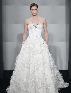 Mark Zunino - Sweetheart Ball Gown in French Lace