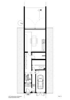 "Sculp IT adds ""world's largest pivoting window"" to an Antwerp townhouse (Dezeen Dezeen Architecture, Architecture Design, Town House Floor Plan, Antwerp, Glass Panels, Interior And Exterior, Interior Design, Townhouse, Windows"