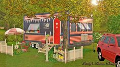 Ruby's Home Design 璐比的房屋: Caravan Love 幸福露營屋 My Sims, Sims Cc, Sims 4 Family, Free Sims, Sims Four, Sims Games, Sims 4 Build, Witch House, Tiny House