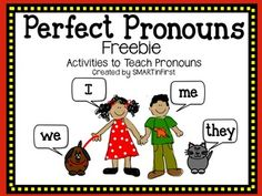 Perfect Pronouns Freebie