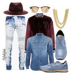 """Untitled #702"" by stylebywho on Polyvore featuring Balmain, Pierre Balmain, Valentino, rag & bone, King Ice and Ray-Ban"