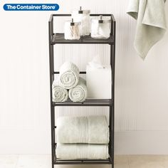 We've joined the old-world charm of wrought iron with contemporary functionality to create our Iron Folding Bookshelf. Designed to our specifications for economical, attractive storage of books, magazines, tchotchkes, plants, canisters, cookbooks or toiletries and cosmetics, our Bookshelf is an unbeatable value. Made of cast iron with an attractive, neutral pewter finish, each is pre-assembled - no tools are required. Easy to transport and store, it folds flat when not in use. Shop Shelving, Bookcase Storage, Bamboo Bathroom, Small Bathroom, Bathroom Inspo, Bathroom Ideas, Floating Bookshelves, Apartment Makeover, Linen Storage