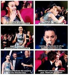 Same goes to you Katy...if you would have said no to Niall One Direction would have never happened...♥<<< I love the relationship they have with here. It's awesome《《 What can I say? They support me and I love them :)