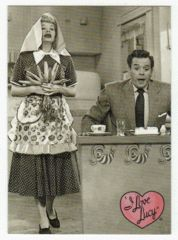 I Love Lucy # 13 - The Anniversary Present - 50th Anniversary Dart Flipcards - 2001