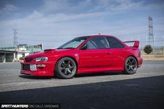 555 Horses Of Widened Fury – Speedhunters – Speed Team Subaru Impreza Sti, Wrx, Japanese Sports Cars, Japanese Cars, Subaru Rs, Colin Mcrae, Rims For Cars, Cars Usa, Performance Cars