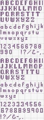 Basic Block Alphabet 21 Cross Stitch