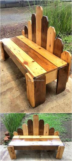 Here we are going to show an idea for the garden bench creation which is created with the creative back and it is attractive due to the color combination which is sober, but can be painted funky if it is for the kid's room.