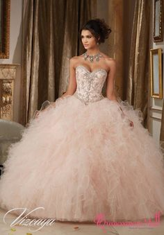 Pretty quinceanera dresses, 15 dresses, and vestidos de quinceanera. We have turquoise quinceanera dresses, pink 15 dresses, and custom quince dresses! dresses pink Dazzling Beaded Bodice on a Ruffled Tulle Ball Gown Dresses Elegant, Sweet 16 Dresses, Pretty Dresses, Beautiful Dresses, 15 Dresses Pink, Sweet Sixteen Dresses, Sparkly Dresses, Light Pink Quinceanera Dresses, Mori Lee Quinceanera Dresses