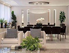 Detalhes living e jantar integrados by Arquiteta Monise Rosa! @_decor4home Foto by Julia Ribeiro
