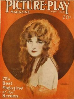 Silent Movie Magazine - Picture-Play Magazine, November 1923 - Eleanor Boardman (cover art by Henry Clive)