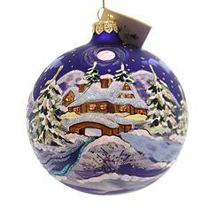 Christina's World VAN GOGH WINTER Glass Ornament Ball