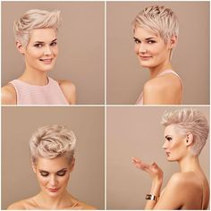 Today we have the most stylish 86 Cute Short Pixie Haircuts. We claim that you have never seen such elegant and eye-catching short hairstyles before. Pixie haircut, of course, offers a lot of options for the hair of the ladies'… Continue Reading → Cute Pixie Cuts, Blonde Pixie Cuts, Short Blonde, Short Pixie Haircuts, Pixie Hairstyles, Short Hair Cuts, Ladies Hairstyles, Trendy Hairstyles, Haircut Short