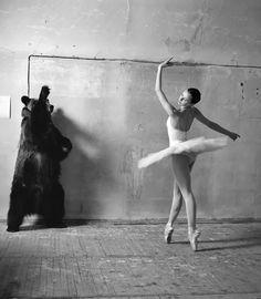 Feito bailarina.