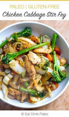 Quick & Easy Chicken Cabbage Stir Fry (Paleo, Gluten-Free, Whole30)