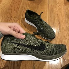 57aca41638bd4 Nike Flyknit Racer Olive Green  fashion  clothing  shoes  accessories   unisexclothingshoesaccs