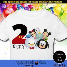 Birthday Tsum Tsum Shirt Custom Tsum Tsum por TheFashionableMouse