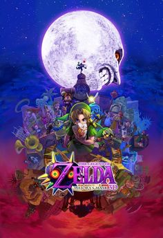 Gorgeous Artwork Released for Majora's Mask 3D - I am SO glad my brother preordered this, so I can steal his gameboy and play it!
