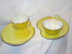 Czechslovakia Bell China Lusterware Snack by FragileCollectibles, $15.00