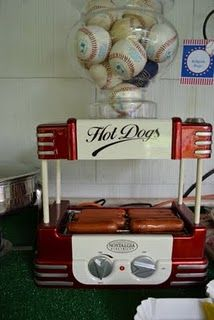 A Hot Dog Bar-perfect for baseball party!