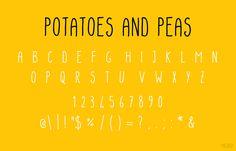 Potatoes And Peas Font | dafont.com