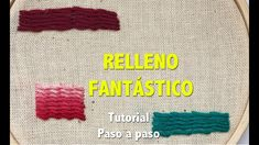 RELLENO FANTÁSTICO- TUTORIAL- PASO A PASO - YouTube Embroidered Lace Fabric, Brother Scan And Cut, Craft Projects, Crochet Hats, Embroidery, Stitch, Relleno, Creative, Crafts