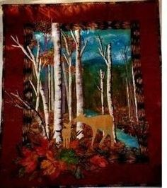 Experimenting with painting fabrics to make a landscape quilt shine!!