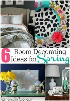 6 Room Decorating Ideas for Spring via RainonaTinRoof.com #spring #roomdecorating