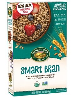 Shape Magazine, Psyllium Seed Husks, Organic Cereal, Best Cereal, Healthy Fiber, Natures Path, Food Inc, Healthy Breakfast Options, Healthy Cereal