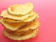 healthy potato chips in 3 mins! love guilty pleasures done in a healthy way.
