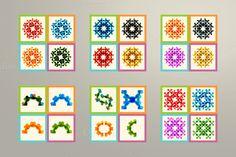 Set molecule and technology pattern by Haisonok on Creative Market