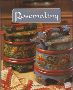 Rosemaling - Norwegian style of traditional decorative arts.                                                                                                                                                                                 More