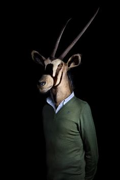 "When first encountering this body of photographs Madrid-based advertising and industrial photographer Miguel Vallinas it's easy to view it as a familiar ""animals dressed as people"" project. But as you look closer you realize it's quite a bit more than that. As"