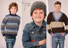 Réalisation pull tricot enfant rayé garçon Canada Par Lammy Yarns