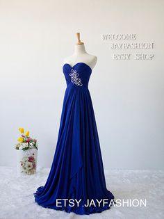 Royal Blue Sweetheart Long Prom Dress Fashion Bridesmaid Dress/New Years Dress Wedding Party/Hot Party Dress Homecoming/Evening Dress