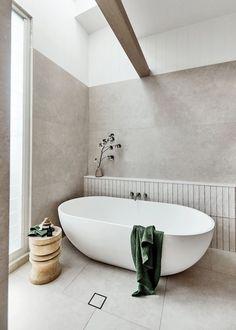 Bathroom Renos, Laundry In Bathroom, Bathroom Inspo, Bathroom Inspiration, Master Bathroom, Modern Bathroom Tile, Bathrooms, Dream Beach Houses, Bad Inspiration