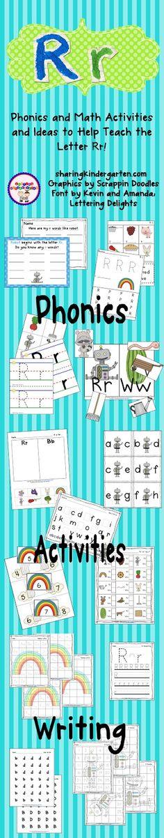 Letter Rr Pack (free; from Sharing Kindergarten)