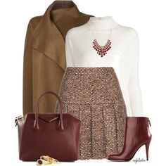 Tweed Skirt for Fall – by angkclaxton #fashion #fashionideas #outfitideas #winteroutfit #falloutfit