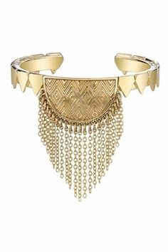 House of Harlow 1960 14KT Gold Crescent Cuff - StyleSays