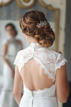 Elegant Wedding Hairstyles Part II: Bridal Updos | http://www.tulleandchantilly.com/blog/elegant-wedding-hairstyles-part-ii-bridal-updos/