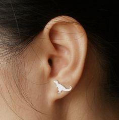 T-rex stud earrings for less