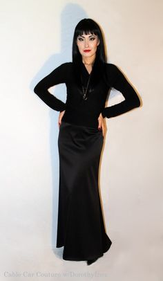Diy Morticia Addams Halloween Costumes In Your Closet Cable Car Couture Costume Halloween