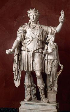 Figure of Bacchus/Dionysus, 2nd-century A.D. Roman copy after Greek original.