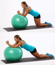 Kneeling ball roll out workouts: abs спорт, йога, здоровье Stability Exercises, Stability Ball, Abdominal Exercises, Abdominal Muscles, Ab Exercises, Stretches, Lower Ab Workouts, At Home Workouts, Belly Burner