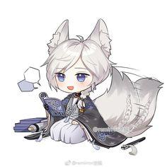 Neko, Kawaii Chibi, Cute Chibi, Pokemon, Anime People, Anime Guys, Wolf Boy Anime, Dibujos Anime Chibi, Chibi Characters