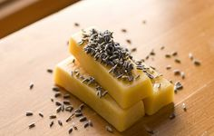 Massage bars.  I normally use equal parts beeswax, cocoa butter, and coconut oil, but this looks good, too.  Adjust the solid vs. liquid oils to make it melt at higher or lower temperatures if you live in a less temperate climate.