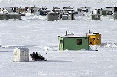 La pêche sur la glace au Saguenay - Lac St-Jean au Québec