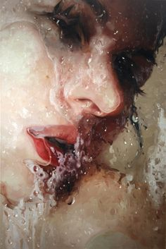 Hyper-realism painting by Alyssa Monks, Varying sizes, Oil on canvas, Pintura Graffiti, Photographie Street Art, Hyper Realistic Paintings, Realism Art, Art Plastique, Female Art, Female Head, Painting & Drawing, Amazing Art